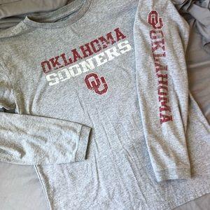 Oklahoma Sooners Long Sleeve T-shirt 14/16 Grey